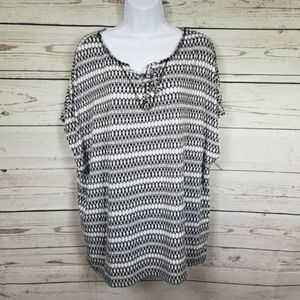 DRESS BARN SUNDAY dolman sleeve stretchy top 2X